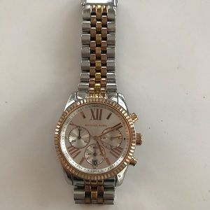 Michael Kors Tri -Tone Stainless Steel Watch